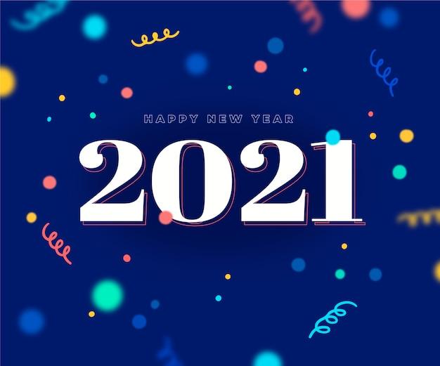 Bunter konfetti hintergrund neues jahr 2021 Kostenlosen Vektoren
