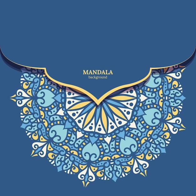 Bunter mandala-designhintergrund des luxusornaments Kostenlosen Vektoren