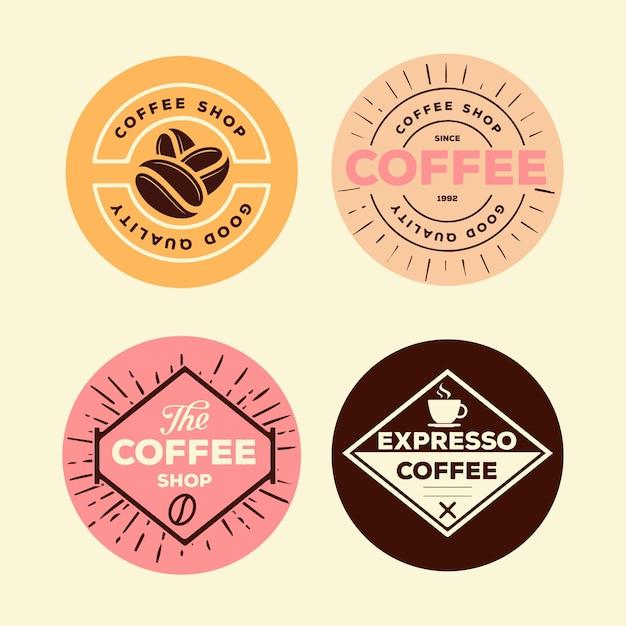 Bunter minimaler logo-pack im vintage-stil Kostenlosen Vektoren