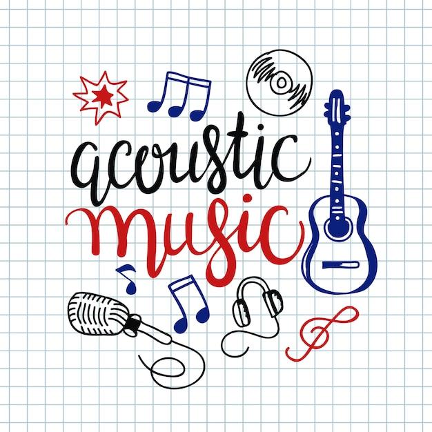 Bunter musikhintergrund. Kostenlosen Vektoren