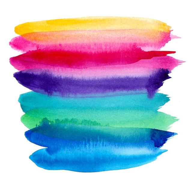 Bunter regenbogenhintergrund des aquarells Premium Vektoren