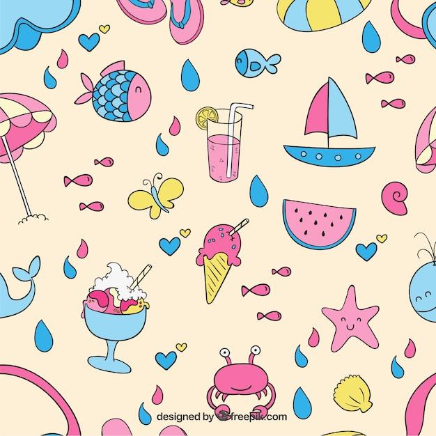 Bunter Sommer-Muster | Download Der Kostenlosen Vektor