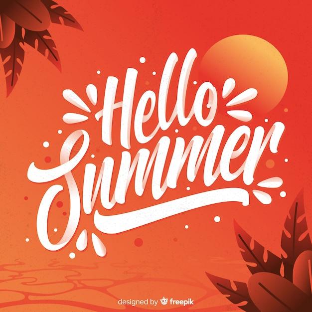 Bunter sommer schriftzug Kostenlosen Vektoren