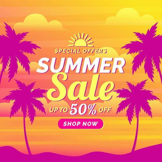 Bunter sommerverkauf Kostenlosen Vektoren
