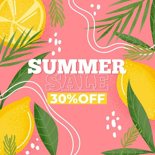 Bunter sommerverkaufshintergrund Premium Vektoren