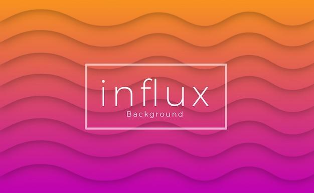 Bunter violetter und orange wellenhintergrund Premium Vektoren
