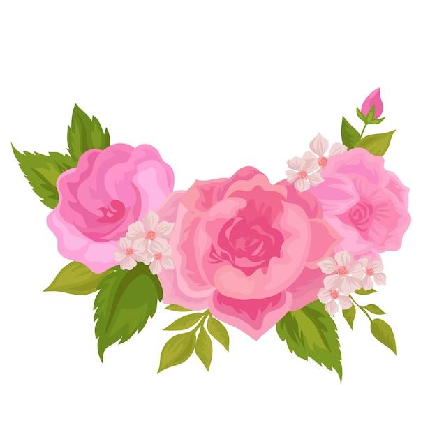Bunter weinleseblumenstrauß Kostenlosen Vektoren