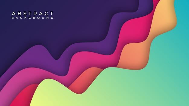 Buntes abstraktes papier schnitt hintergrund Premium Vektoren