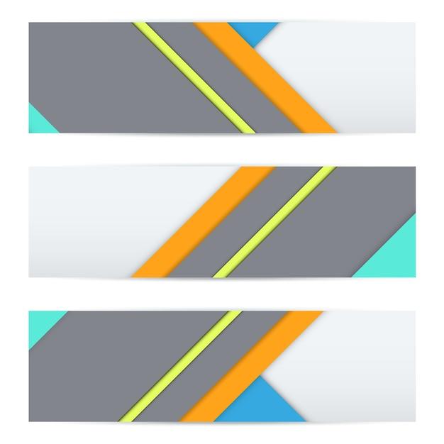 Buntes banner aus ungewöhnlichem modernem material Premium Vektoren