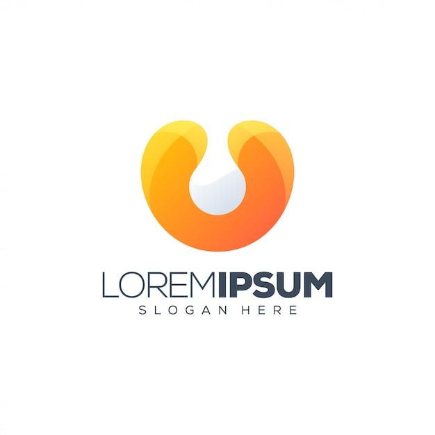 Buntes buchstabe u-logo Premium Vektoren