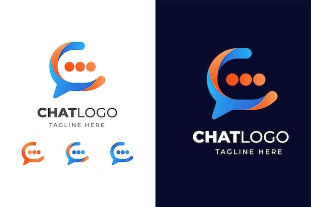 Buntes chat-logo Premium Vektoren