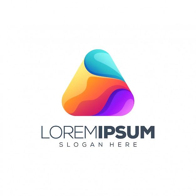 Buntes dreieck-logo Premium Vektoren
