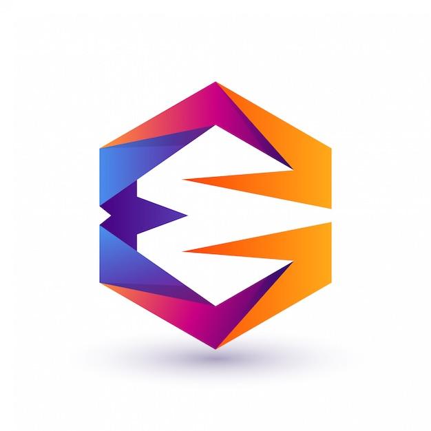 Buntes e-logo Premium Vektoren