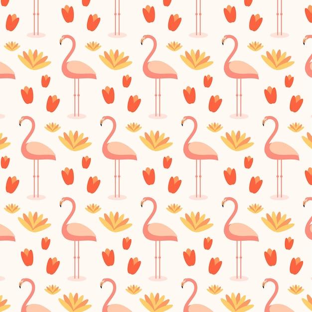 Buntes flamingomuster Kostenlosen Vektoren