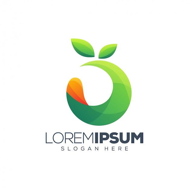 Buntes fruchtlogodesign Premium Vektoren