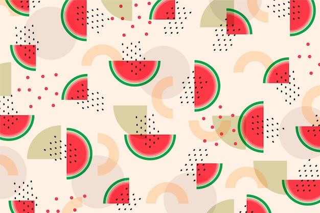 Buntes fruchtmuster Premium Vektoren