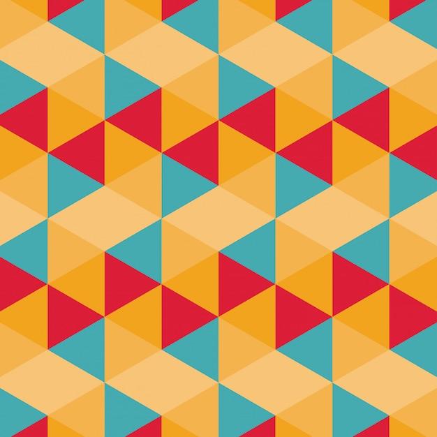 Buntes geometrisches muster Kostenlosen Vektoren