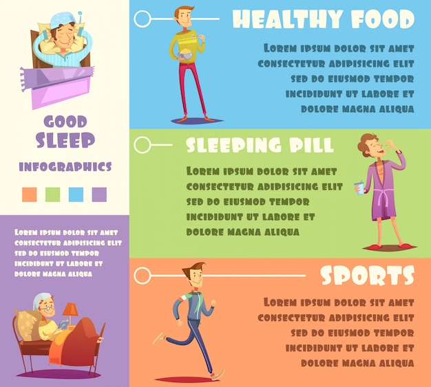 Buntes gesundes leben infografiken Kostenlosen Vektoren