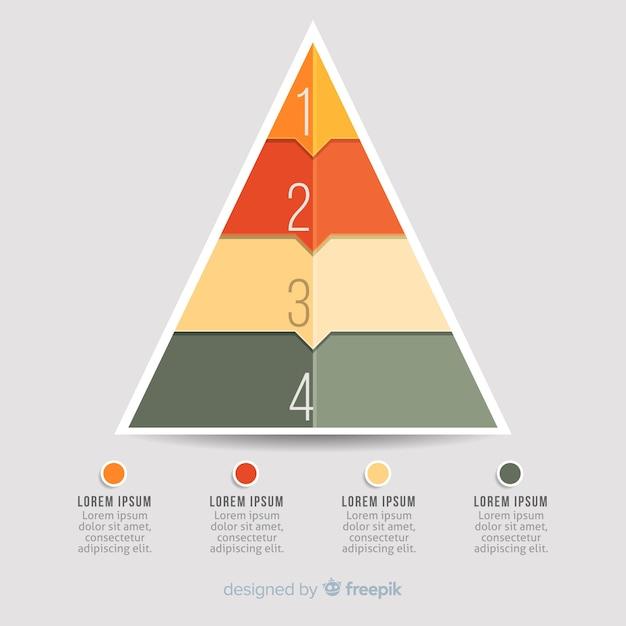 Buntes infographic schrittkonzept in der flachen art Kostenlosen Vektoren