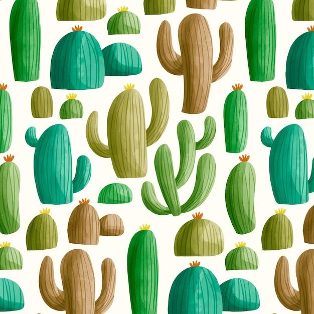 Buntes kaktusmuster Kostenlosen Vektoren