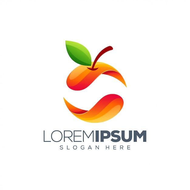 Buntes orange logo Premium Vektoren