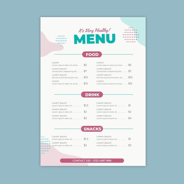Buntes restaurantmenü Kostenlosen Vektoren