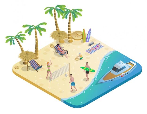 Buntes sommerferienkonzept Kostenlosen Vektoren