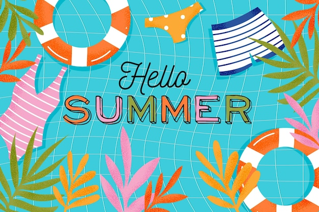 Buntes sommerhintergrundkonzept Kostenlosen Vektoren