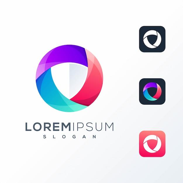 Buntes tech-logo Premium Vektoren