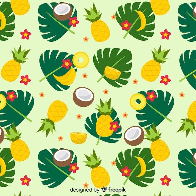 Buntes tropisches fruchtmuster Kostenlosen Vektoren