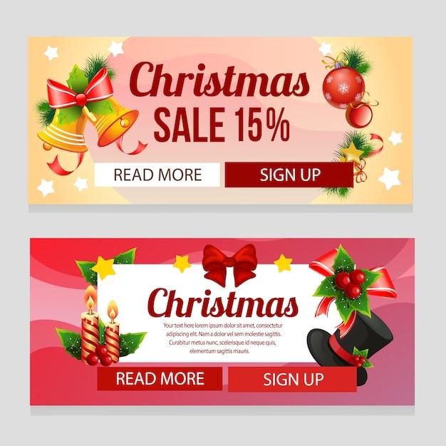 Buntes weihnachten mit weihnachtsdekoration Premium Vektoren