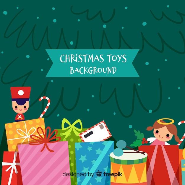 Buntes weihnachten spielt hintergrund Kostenlosen Vektoren