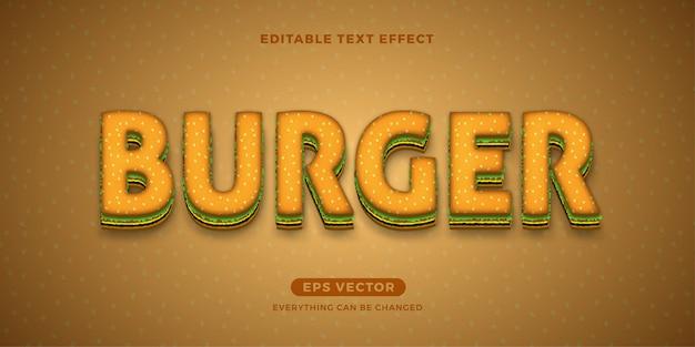 Burger bearbeitbarer text Premium Vektoren