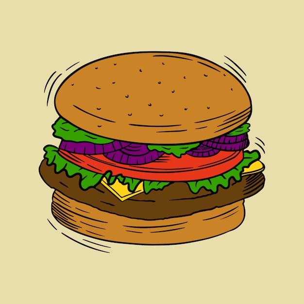 Burger-illustration Premium Vektoren