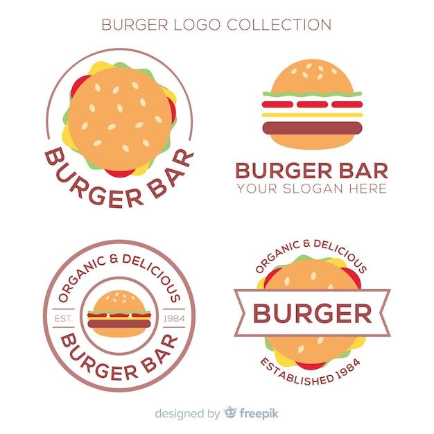 Burger-logo-sammlung Kostenlosen Vektoren
