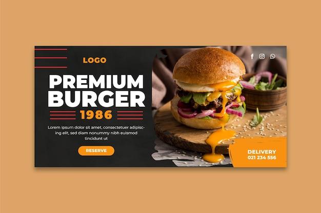 Burger restaurant banner vorlage Kostenlosen Vektoren