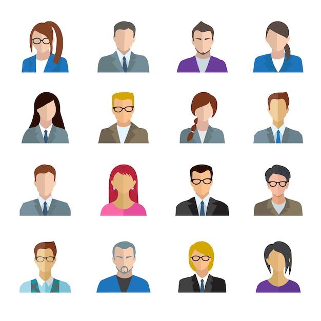 Büroangestellter-Set Kostenlose Vektoren