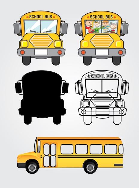 Bus-symbole Premium Vektoren