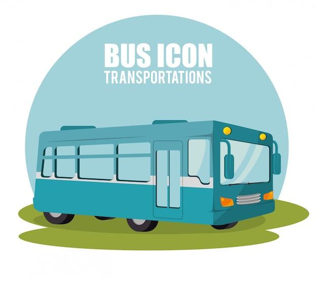 Bus transport design Premium Vektoren