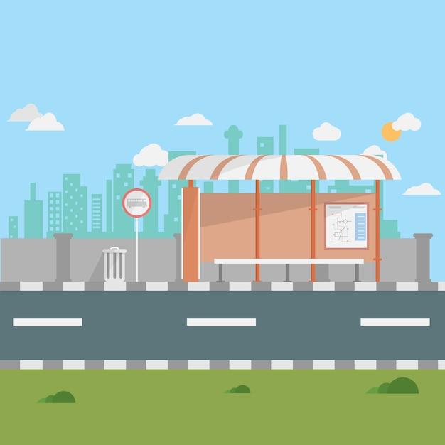 Bushaltestelle hintergrund design download der for Meine wohnung click design download