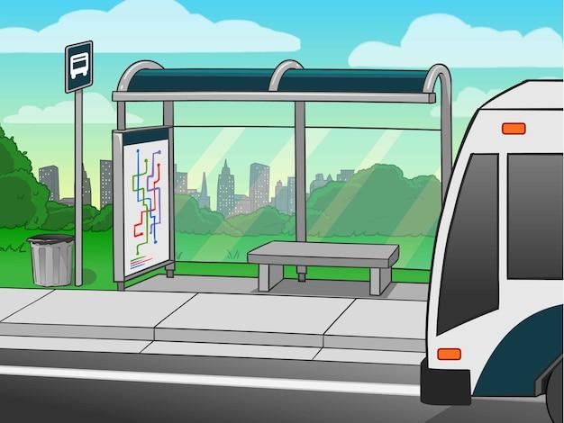 Bushaltestelle Premium Vektoren