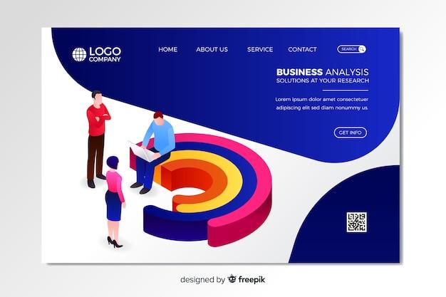 Business-analyse-landing-page-vorlage Kostenlosen Vektoren