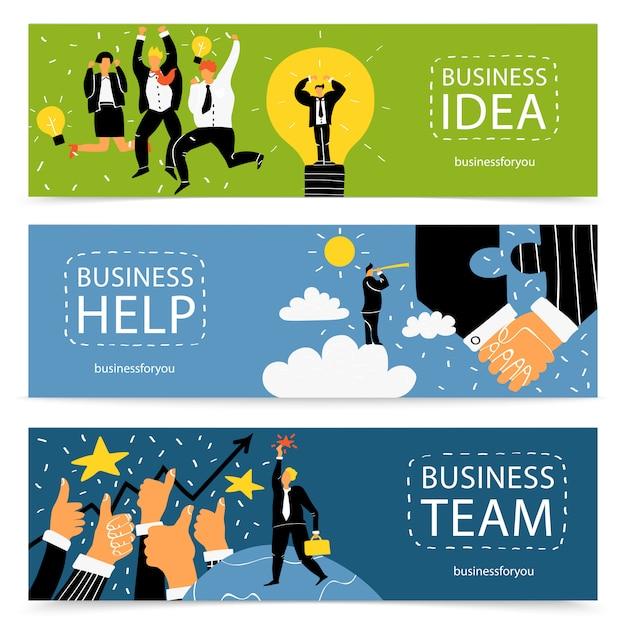Business-banner gesetzt Kostenlosen Vektoren