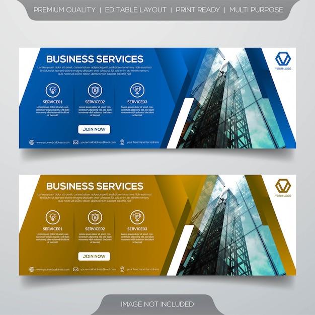 Business banner vorlage premium vektor Premium Vektoren