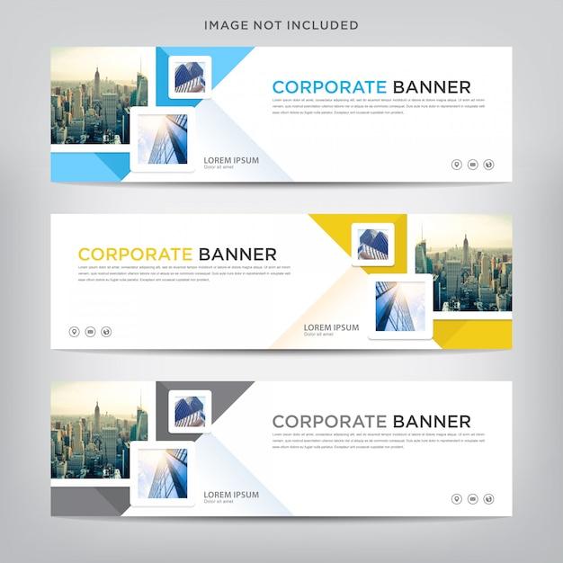 Business banner vorlage Premium Vektoren
