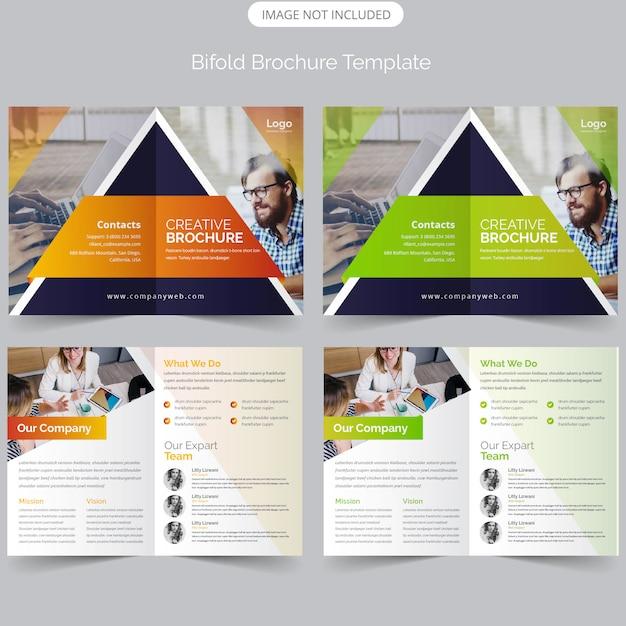 Business bifold-broschüre Premium Vektoren