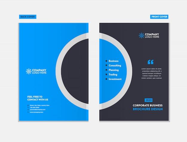 Business broschüre cover design-vorlage Premium Vektoren