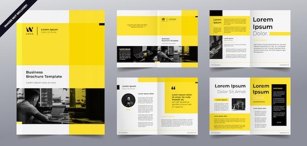 Business broschüre seiten vorlage Premium Vektoren
