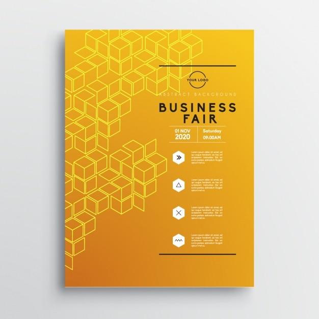 Business-broschüre vorlage Kostenlosen Vektoren
