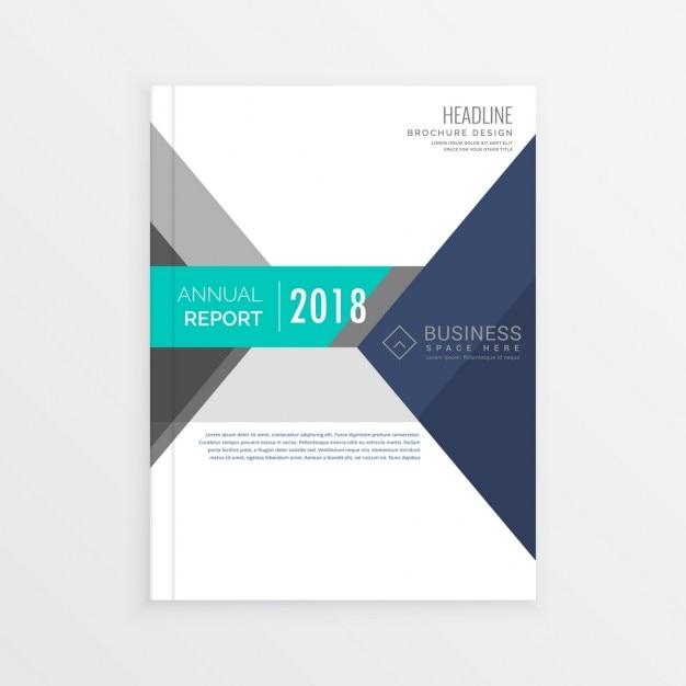 Business Broschüre Template Design in geometrischen Formen
